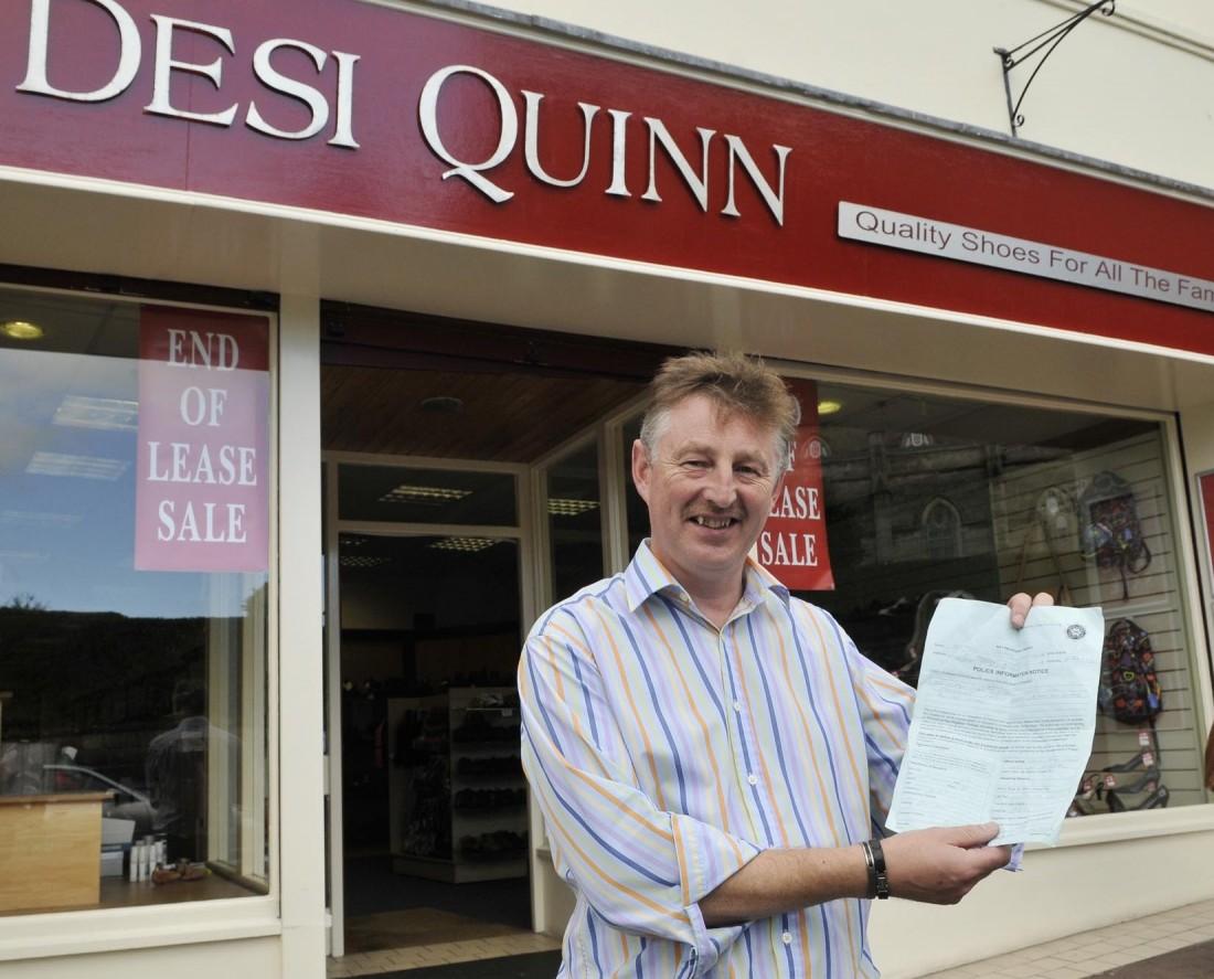 Desi Quinn closing his shoe business