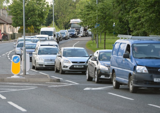 Enniskillen was gridlocked last summer as work began at Johnston Bridge    RMG65