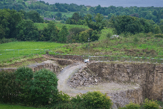 The quarry site where fracking was due to take place  RMG03