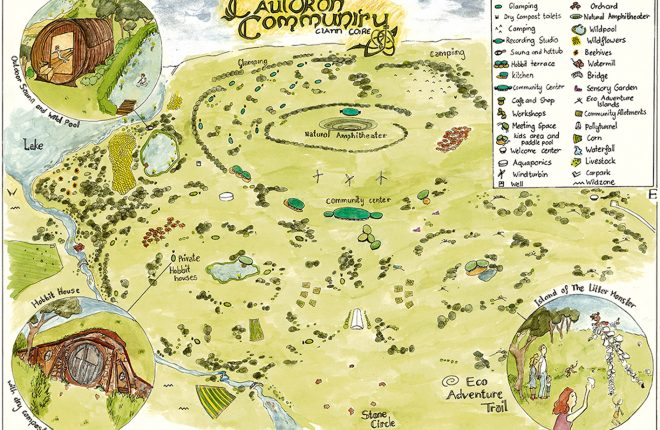 Artist's impression of the Enriched Earth Ecovillage